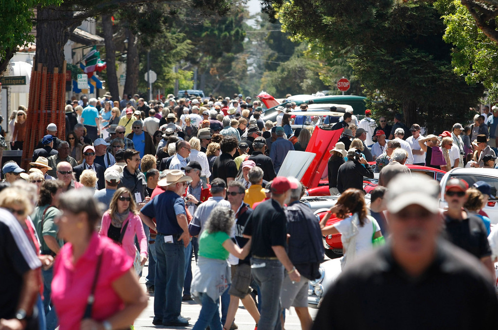 Description of . Thousands of people attended the Concors on the Avenue in Carmel on Agust 13, 2013.  (Vern Fisher/Monterey County Herald)