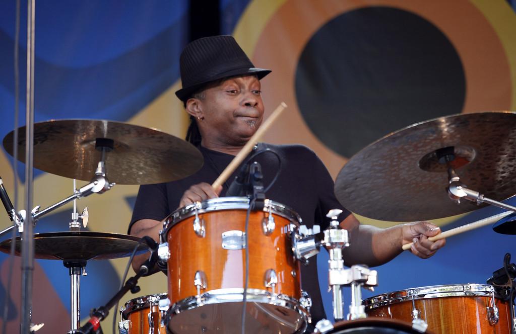 Description of . Deszon Clairborne on the Garden Stage at the Monterey Jazz Festival on Sept. 22, 2013.  (Vern Fisher/Monterey County Herald)
