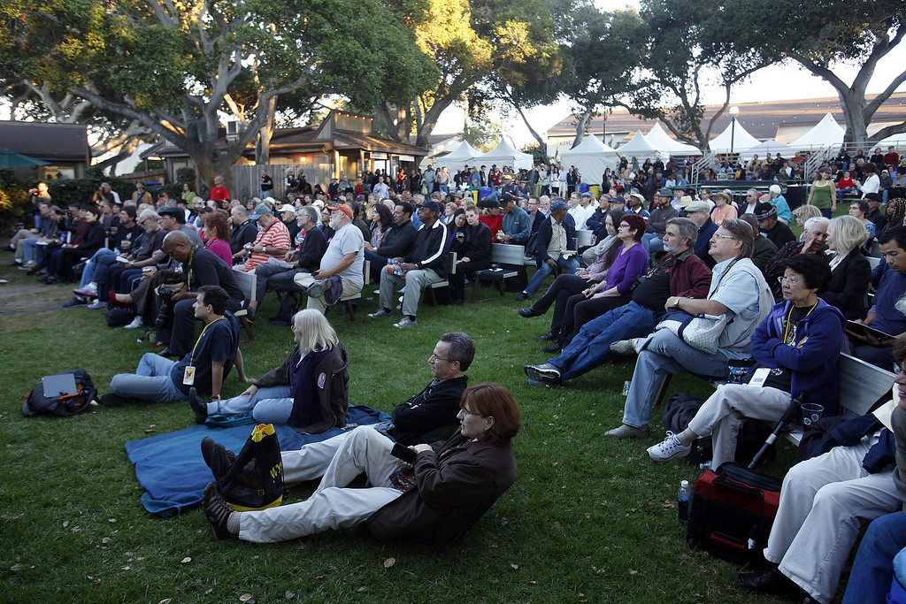 Description of . The crwod at the Graden Stage watches Roberto Fonseca perform during the 56th Monterey Jazz Festival at the Monterey Fairgrounds on Sept. 20, 2013.  (Vern Fisher/Monterey County Herald)