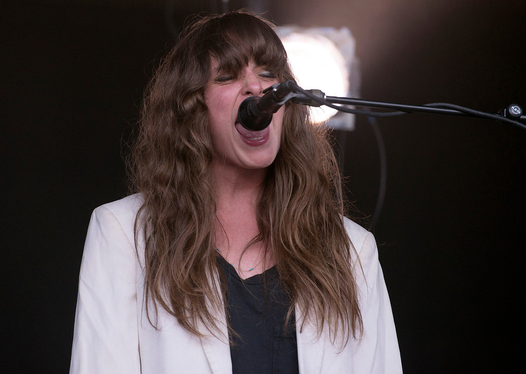 Description of . Beach House lead signer Victoria Legrand performs at the First City Music Festival, Saturday, August 24th, 2013 at the Monterey Fairgrounds. (Matthew Hintz/Monterey County Herald)
