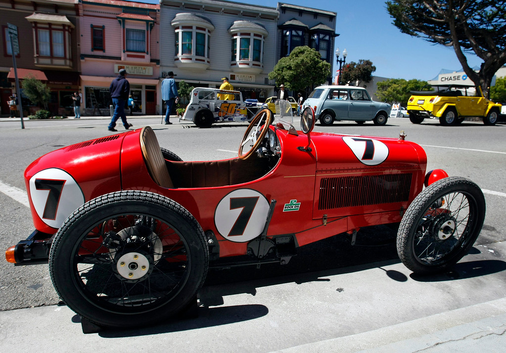 . Joe Palazzolo\'s from King City shows his 2002 Tipo 2 at the Little Car Show on Lighthouse Avenue in Pacific Grove on August 14, 2013.  (Vern Fisher/Monterey County Herald)