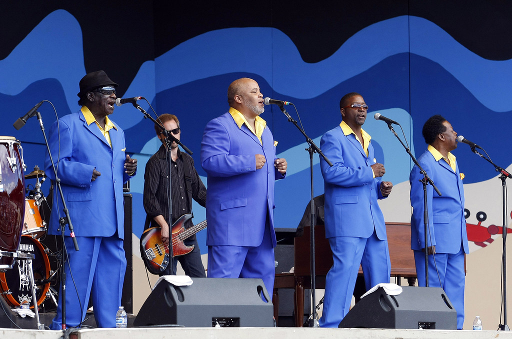 . The Relatives perform at the main arena at the Monterey Jazz Festival on Sept. 21, 2013.  (Vern Fisher/Monterey County Herald)