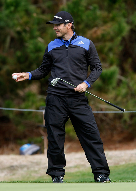 . Trevor Immelman at Spyglass Hill during the first round of the AT&T Pebble Beach National Pro Am on Feb. 6, 2014.  (Vern Fisher/Monterey County Herald)