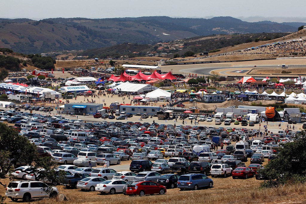 . Looking over Mazda Raceway Laguna Seca during the Red Bull U.S. Grand Prix in Monterey on July 21, 2013.  Marc Marquez went on to win the race.  (Vern Fisher/Monterey County Herald)