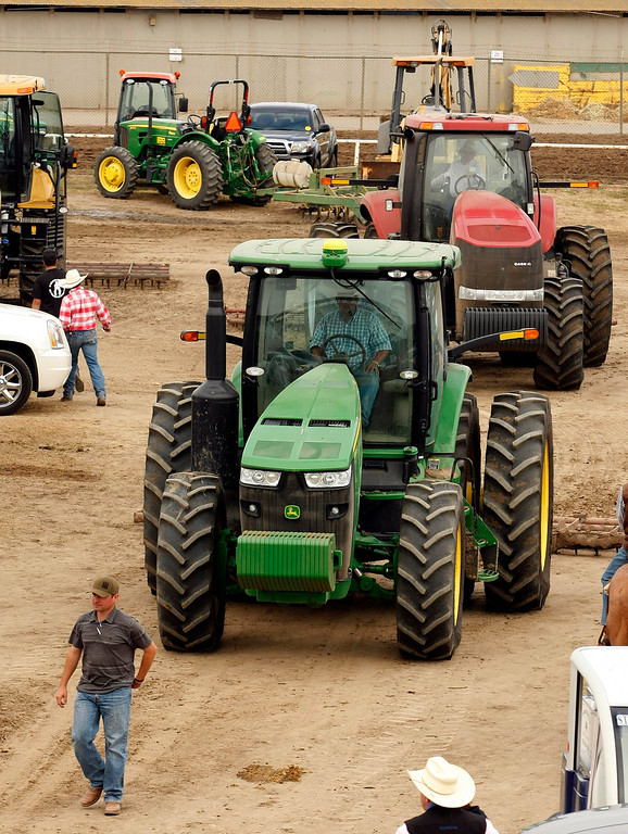 . Big tractors at the California Rodeo Salinas on July 18, 2013.  (Vern Fisher/Monterey County Herald)
